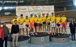 Tots els campions de l'Open Espanya de pista. Foto: RFEC